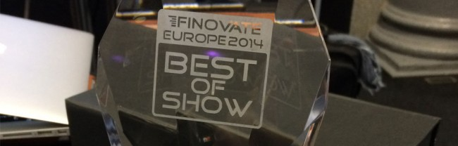 We Won Best of Show at FinovateEurope 2014!