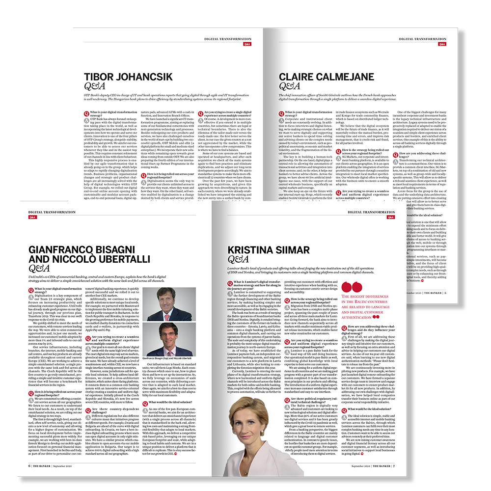 The Banker Report Mockup Pages 2 - Digital Transformation Across European Banking Groups